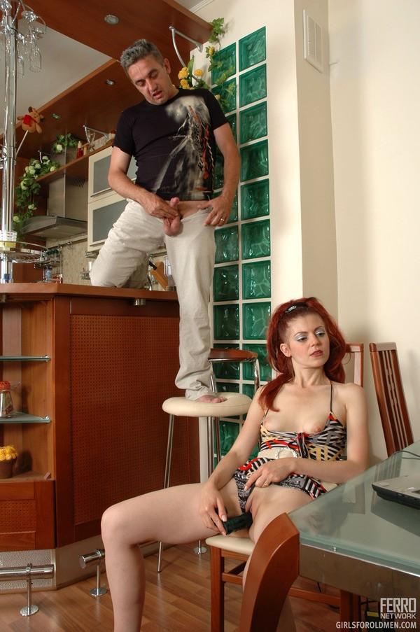 girl gets naked at work – Pantyhose